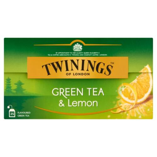 TWININGS GREEN TEA AND LEMON 40GR