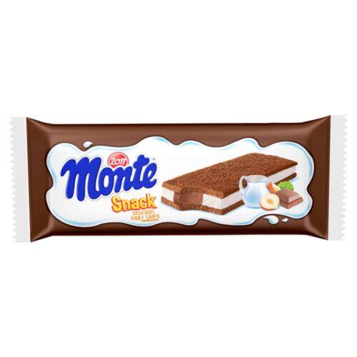 Zott Monte Snack tejes, csokoládés-mogyorós krémmel töltött sütemény 29 g