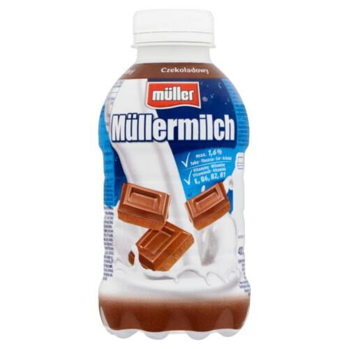 MULLERMILCH 376ML CSOKIS TEJITAL PET