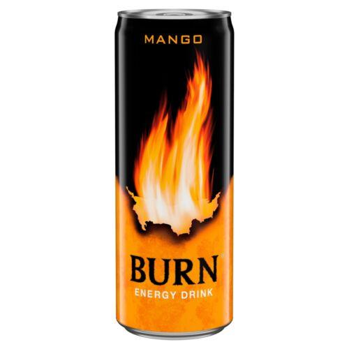 Burn szénsavas mangó ízű energiaital koffeinnel 250 ml