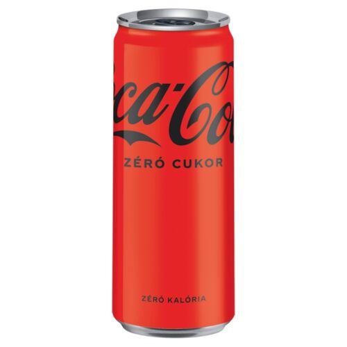 Coca-Cola Zero colaízű energiamentes szénsavas üdítőital édesítőszerekkel 330 ml