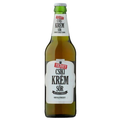 Tiltott Csíki Krém Sör kézműves világos sör 4,5% 0,5 l