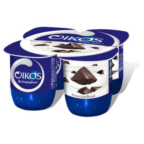 Danone Oikos Görög stracciatellaízű élőflórás krémjoghurt 4 x 125 g