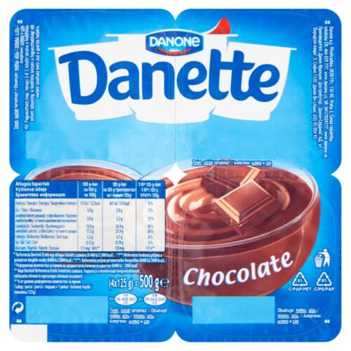 Danone Danette csokoládéízű puding 4 x 125 g