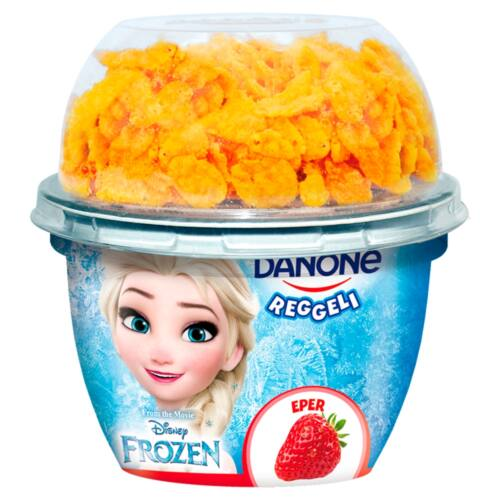 Danone Reggeli élőflórás zsírszegény epres joghurt kukoricapehellyel 140 g