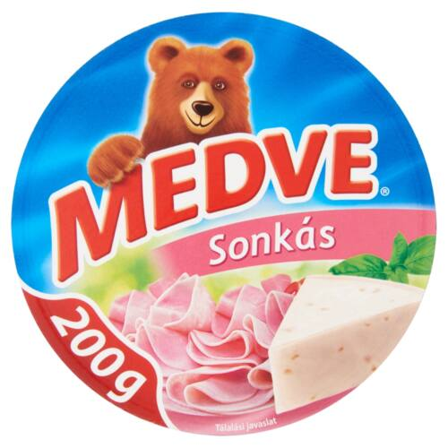 Medve sonkás kenhető, félzsíros ömlesztett sajt 6 db 200 g