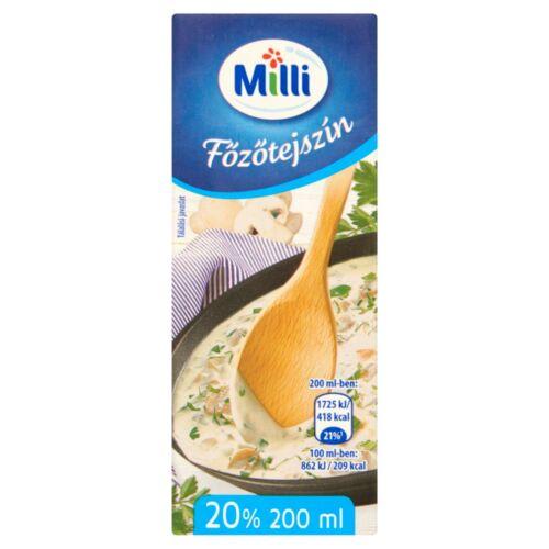 Milli UHT főzőtejszín 20% 200 ml