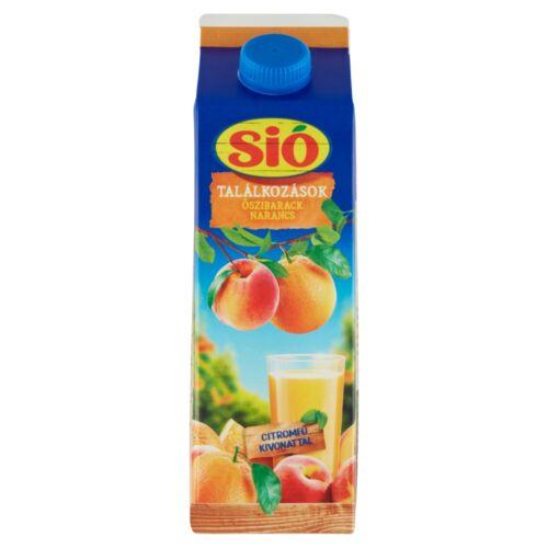 Sió Találkozások rostos őszibarack-narancs gyümölcsital 1 l