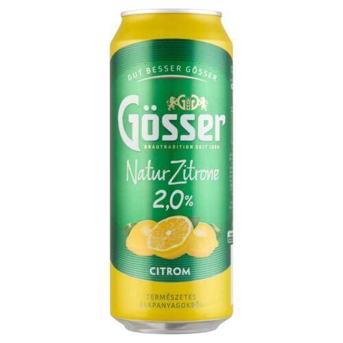GOSSER NATUR CITROM 2% 0,5L DOBOZOS