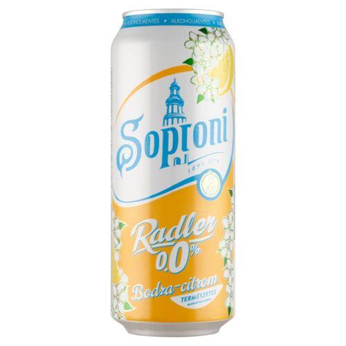 Soproni Radler bodza-citromos alkoholmentes sörital 0,5 l doboz