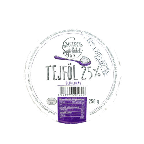 CSERPES TEJFOL 25% 250GR