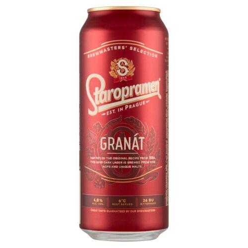 STAROPRAMEN GRANAT 0,5L DOBOZOS SOR