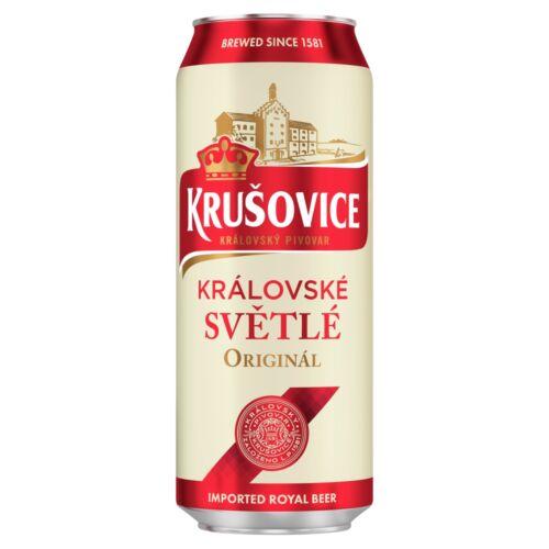 Krušovice Světlé eredeti cseh import világos sör 4,2% 0,5 l doboz