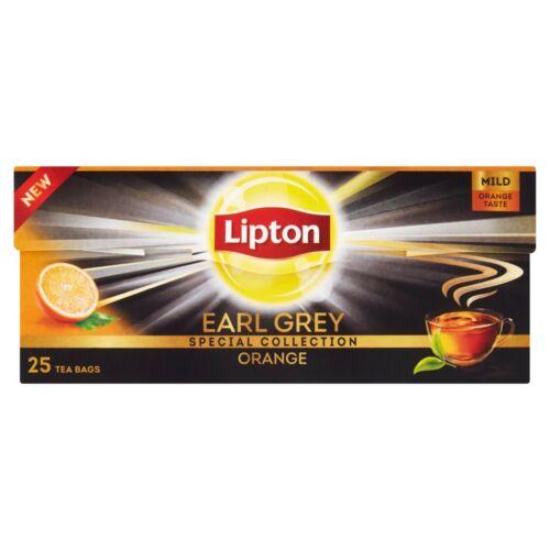 Lipton Earl Grey Orange bergamot és narancs ízesítésű fekete tea 25 filter