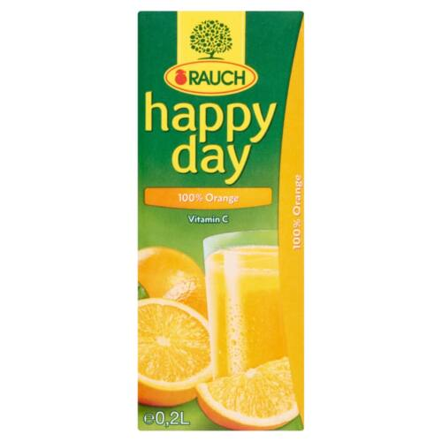 Rauch Happy Day 100% narancslé 0,2 l