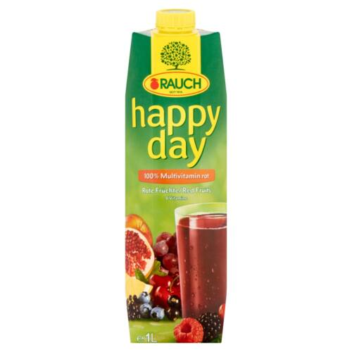 Rauch Happy Day 100% multivitamin vegyes gyümölcslé vegyes gyümölcslésűrítményekből 8 vitaminnal 1 l