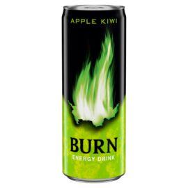 Burn Apple Kiwi szénsavas alma-kivi energiaital koffeinnel 250 ml