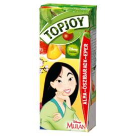 Topjoy alma-őszibarack-eper ital 200 ml
