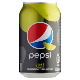 Pepsi Lime colaízű energiamentes szénsavas üdítőital édesítőszerekkel lime ízesítéssel 330 ml