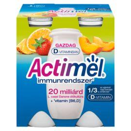 Danone Actimel zsírszegény, élőflórás, vegyes gyümölcsízű joghurtital 4 x 100 g (400 g)