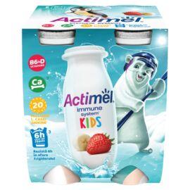 Danone Actimel Kids zsírszegény, élőflórás, eper-banánízű joghurtital 4 x 100 g (400 g)