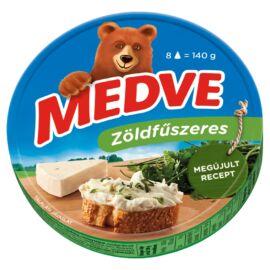 Medve zöldfűszeres kenhető, félzsíros ömlesztett sajt 8 db 140 g
