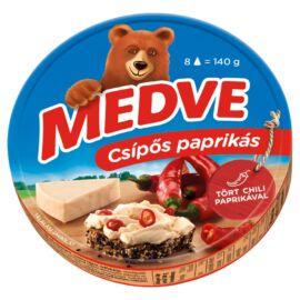 Medve csípős paprikás kenhető, félzsíros ömlesztett sajt 8 x 17,5 g (140 g)