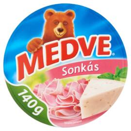 Medve sonkás kenhető, félzsíros ömlesztett sajt 8 db 140 g