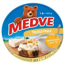 Medve tejszínes, kenhető, félzsíros, ömlesztett sajt 8 db 140 g