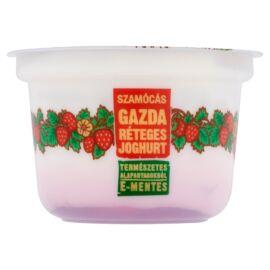 Gazda E-mentes szamócás réteges joghurt 200 g