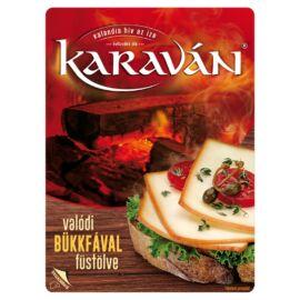 Karaván füstölt, szeletelt, zsíros, vágható ömlesztett sajt 125 g