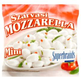 Szarvasi Mozzarella Mini zsíros, lágy sajt 100 g