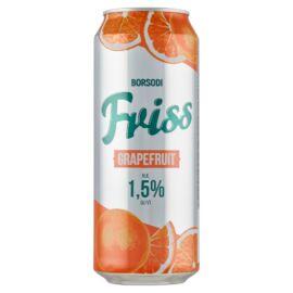 Borsodi Friss grapefruitos ital és világos sör keveréke cukorral és édesítőszerekkel 1,5% 0,5 l
