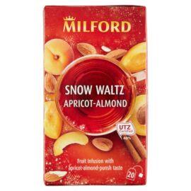 Milford Snow Waltz sárgabarack, mandula, puncs ízű gyümölcstea 20 filter 45 g