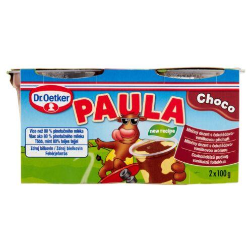 Dr. Oetker Paula csokoládéízű puding vaníliaízű foltokkal 2 x 100 g