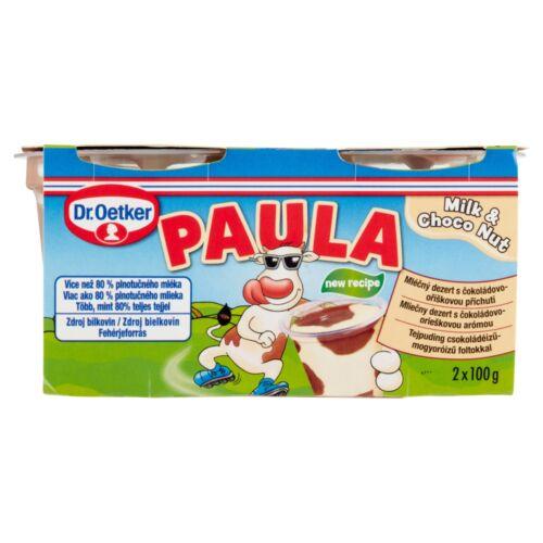 Dr. Oetker Paula tejpuding csokoládéízű-mogyoróízű foltokkal 2 x 100 g