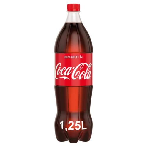 Coca-Cola colaízű szénsavas üdítőital 1,25 l