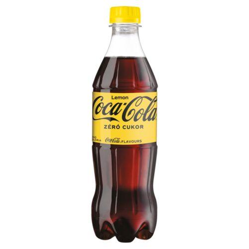 Coca-Cola Zero cola- és citromízű energiamentes szénsavas üdítőital édesítőszerekkel 500 ml