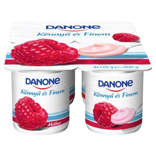 Danone málnaízű, élőflórás, zsírszegény joghurt 4 x 125 g