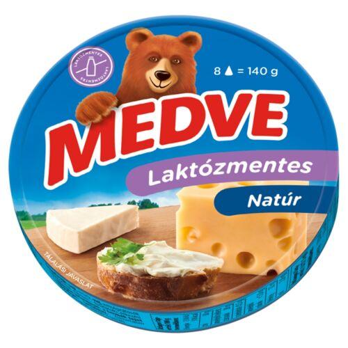 Medve laktózmentes, kenhető, zsírdús, ömlesztett sajt 8 db 140 g