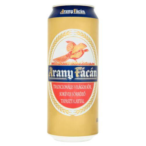 Arany Fácán világos sör 4% 0,5 l doboz